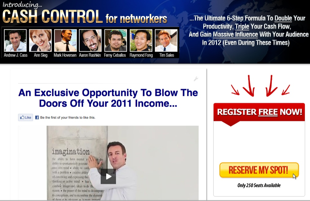 cash control for networkers