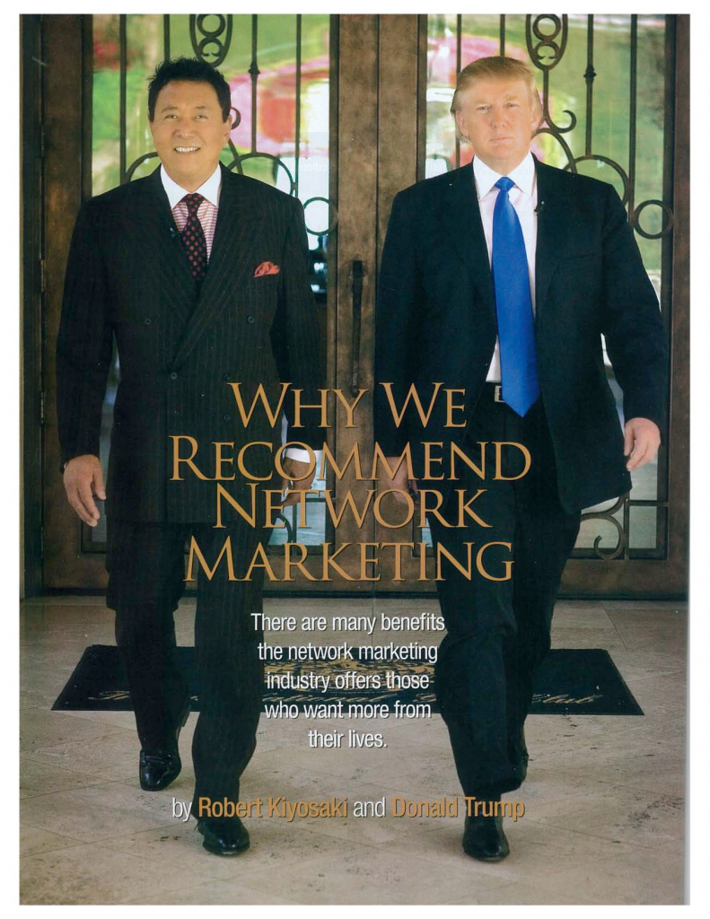 Donald Trump and Robert Kiyosaki On Network Marketing